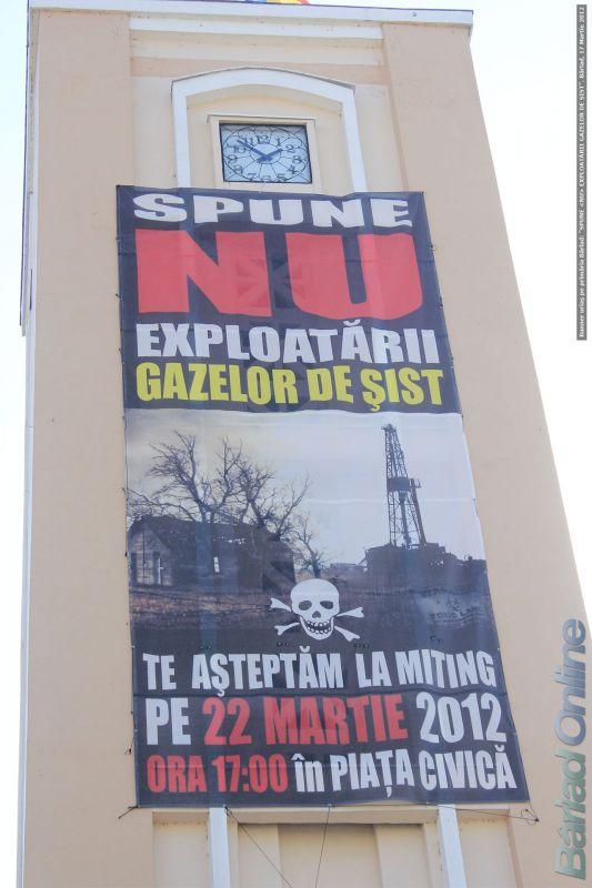 10.000 de semnături împotriva exploatării gazului de șist în zona Bârlad