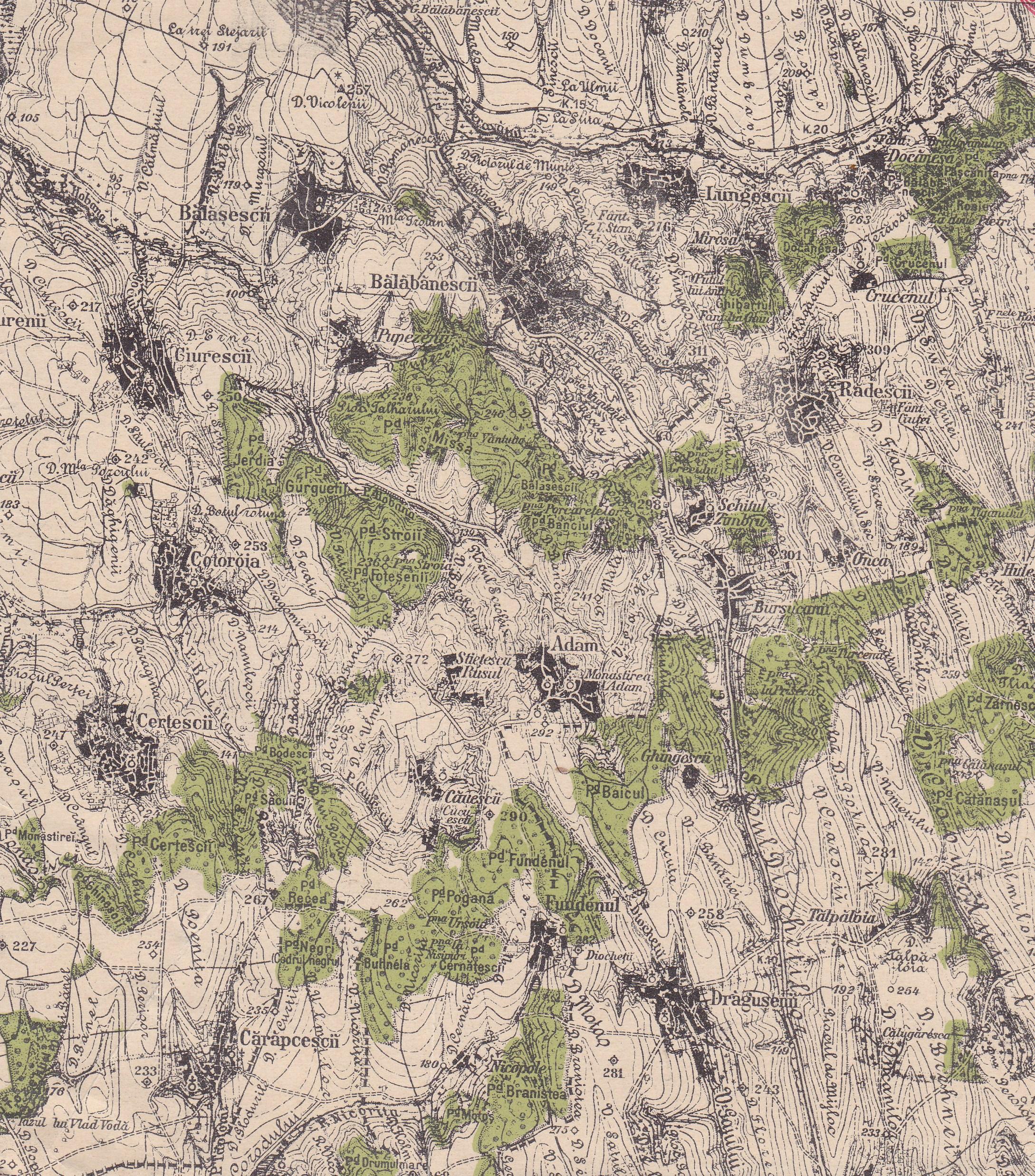 Satul Bălăbăneşti şi vecinii apropiaţi, date geografice şi economice de la 1898-1902