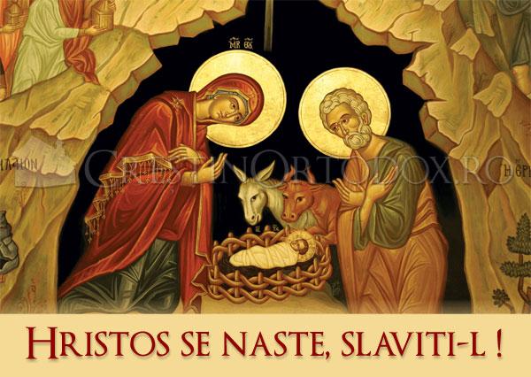 Hristos se naște, slăviți-L ! Crăciun Fericit!